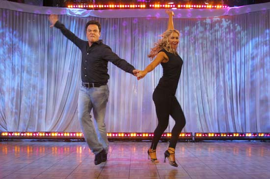 "<div class=""meta image-caption""><div class=""origin-logo origin-image ap""><span>AP</span></div><span class=""caption-text"">Donny Osmond, left, and his partner Kym Johnson, winners of the reality dance competition ""Dancing with the Stars,"" appear on ABC's ""Good Morning America"" (AP Photo/Andy Kropa)</span></div>"