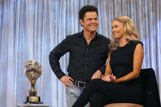 "<div class=""meta image-caption""><div class=""origin-logo origin-image ap""><span>AP</span></div><span class=""caption-text"">Donny Osmond, left, and his partner Kym Johnson, winners of the reality dance competition ""Dancing with the Stars"" (AP Photo/Andy Kropa)</span></div>"