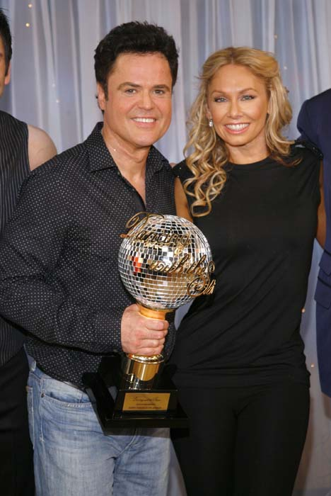 "<div class=""meta image-caption""><div class=""origin-logo origin-image ap""><span>AP</span></div><span class=""caption-text"">Donny Osmond, left, and his partner Kym Johnson, won ""Dancing with the Stars"" (AP Photo/Andy Kropa)</span></div>"