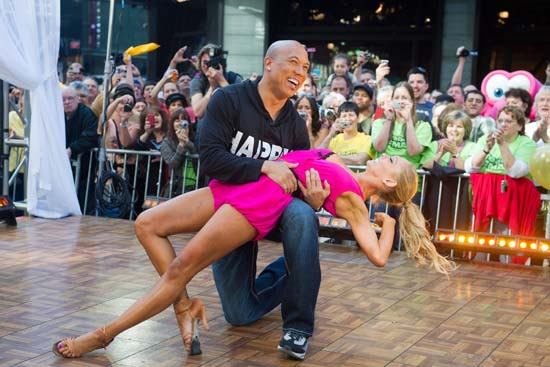 "<div class=""meta image-caption""><div class=""origin-logo origin-image ap""><span>AP</span></div><span class=""caption-text"">Dancing with the Stars winners Hines Ward and Kym Johnson dance on ""Good Morning America."" (AP Photo/Charles Sykes)</span></div>"