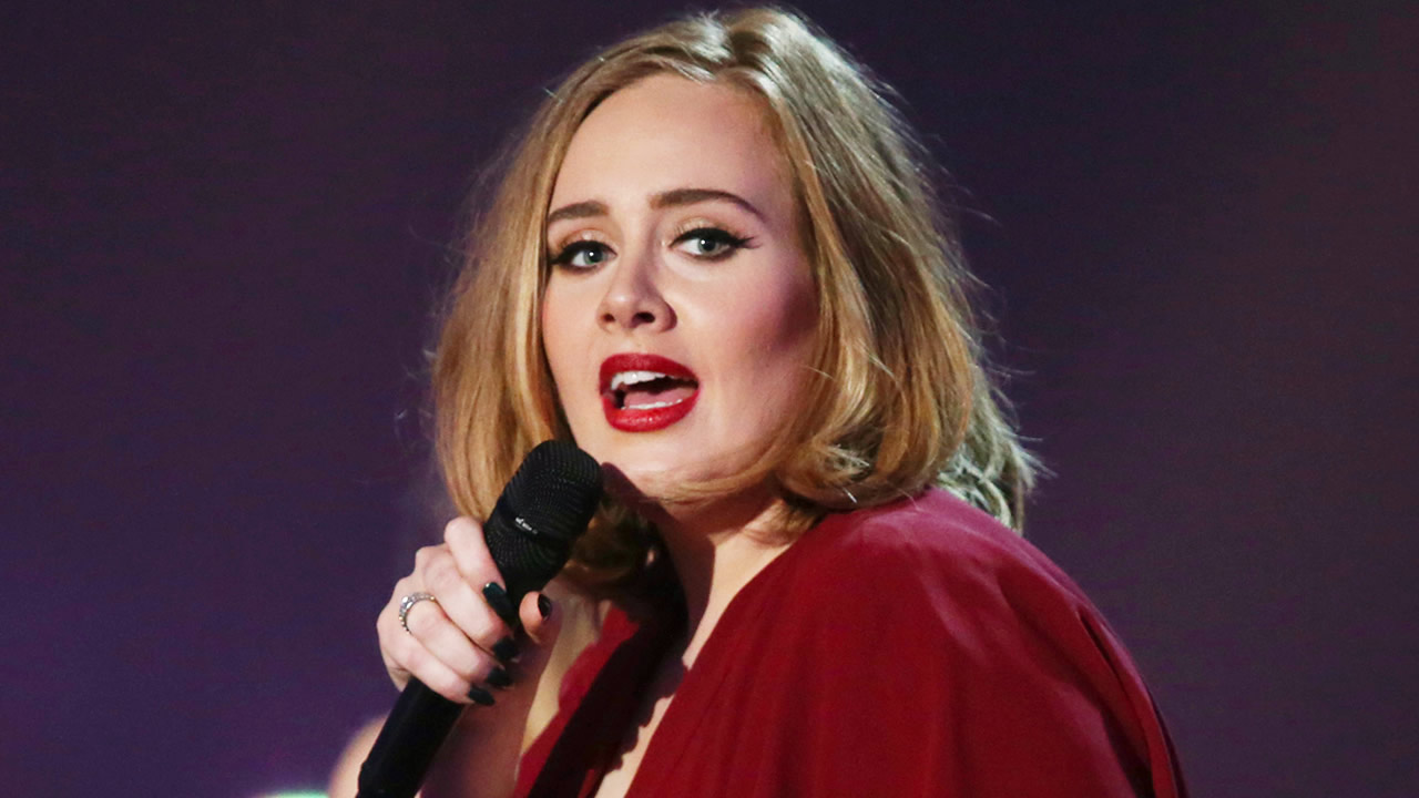 In this Feb. 24, 2016 file photo shows Adele onstage at the Brit Awards 2016 at the 02 Arena in London.  (Photo by Joel Ryan/Invision/AP, File)