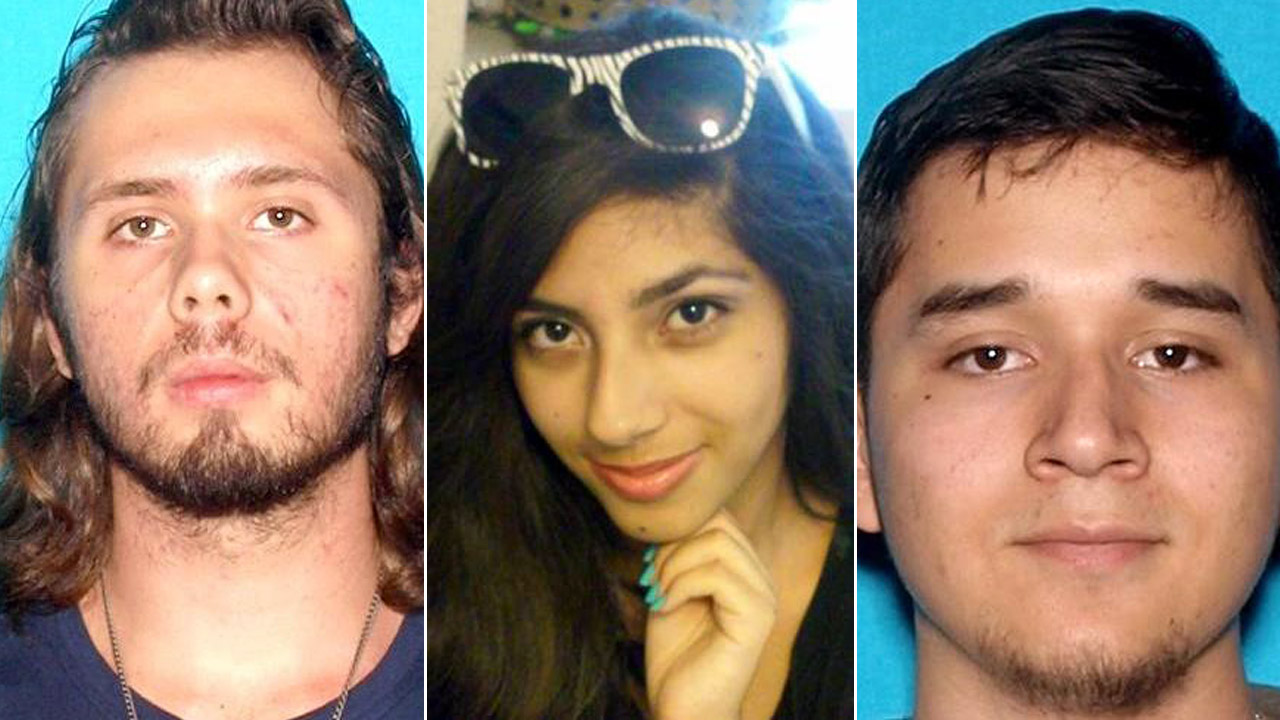 Kasey Vance (left), Samantha Ornelas (center) and Daniel Gamboa (right) told family members they were going to the Angeles National Forest, possibly near Mount Wilson.