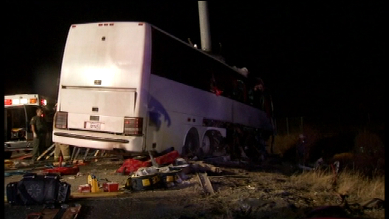 CHP investigating cause of fatal Hwy 99 bus crash   abc7news com