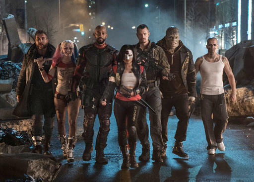 "<div class=""meta image-caption""><div class=""origin-logo origin-image none""><span>none</span></div><span class=""caption-text"">In this image released by Warner Bros. shows the cast of ""Suicide Squad."" (AP)</span></div>"