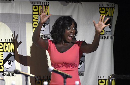"<div class=""meta image-caption""><div class=""origin-logo origin-image none""><span>none</span></div><span class=""caption-text"">Viola Davis walks on stage at the ""Suicide Squad"" panel on day 3 of Comic-Con International on Saturday, July 23, 2016, in San Diego. (Photo by Chris Pizzello/Invision/AP) (Chris Pizzello/Invision/AP)</span></div>"