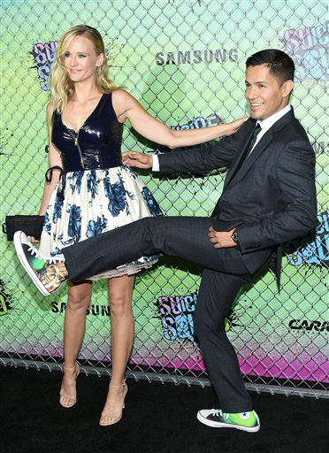 "<div class=""meta image-caption""><div class=""origin-logo origin-image none""><span>none</span></div><span class=""caption-text"">Daniella Deutscher, left, and Jay Hernandez attend the world premiere of ""Suicide Squad"" at the Beacon Theatre on Monday, Aug. 1, 2016, in New York. (Evan Agostini/Invision/AP)</span></div>"