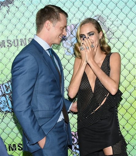 "<div class=""meta image-caption""><div class=""origin-logo origin-image none""><span>none</span></div><span class=""caption-text"">Actors Joel Kinnaman and Cara Delevingne attend the world premiere of ""Suicide Squad"" at the Beacon Theatre on Monday, Aug. 1, 2016, in New York. (Evan Agostini/Invision/AP)</span></div>"