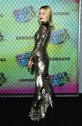 "<div class=""meta image-caption""><div class=""origin-logo origin-image none""><span>none</span></div><span class=""caption-text"">Actress Margot Robbie attends the world premiere of ""Suicide Squad"" at the Beacon Theatre on Monday, Aug. 1, 2016, in New York. (Photo by Evan Agostini/Invision/AP) (Evan Agostini/Invision/AP)</span></div>"