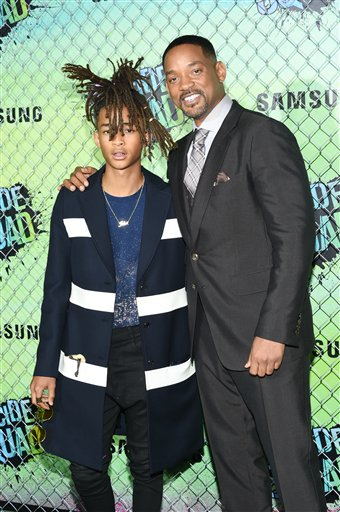 "<div class=""meta image-caption""><div class=""origin-logo origin-image none""><span>none</span></div><span class=""caption-text"">Actors Jaden Smith, left,  and Will Smith attend the world premiere of ""Suicide Squad"" at the Beacon Theatre on Monday, Aug. 1, 2016, in New York. (Evan Agostini/Invision/AP)</span></div>"