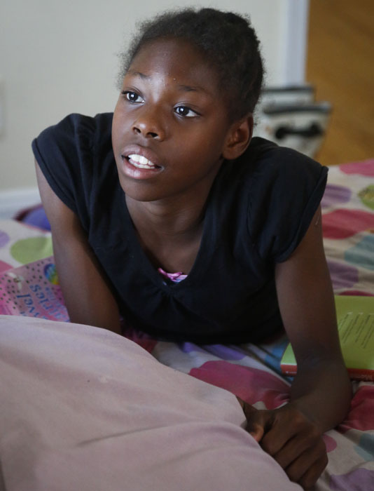 "<div class=""meta image-caption""><div class=""origin-logo origin-image ap""><span>AP</span></div><span class=""caption-text"">In this Wednesday, July 20, 2016 photo, Tai Sheppard, 11, speaks during an interview in the bedroom she shares with her two younger sisters and her mother Tonia Handy. (Bebeto Matthews)</span></div>"