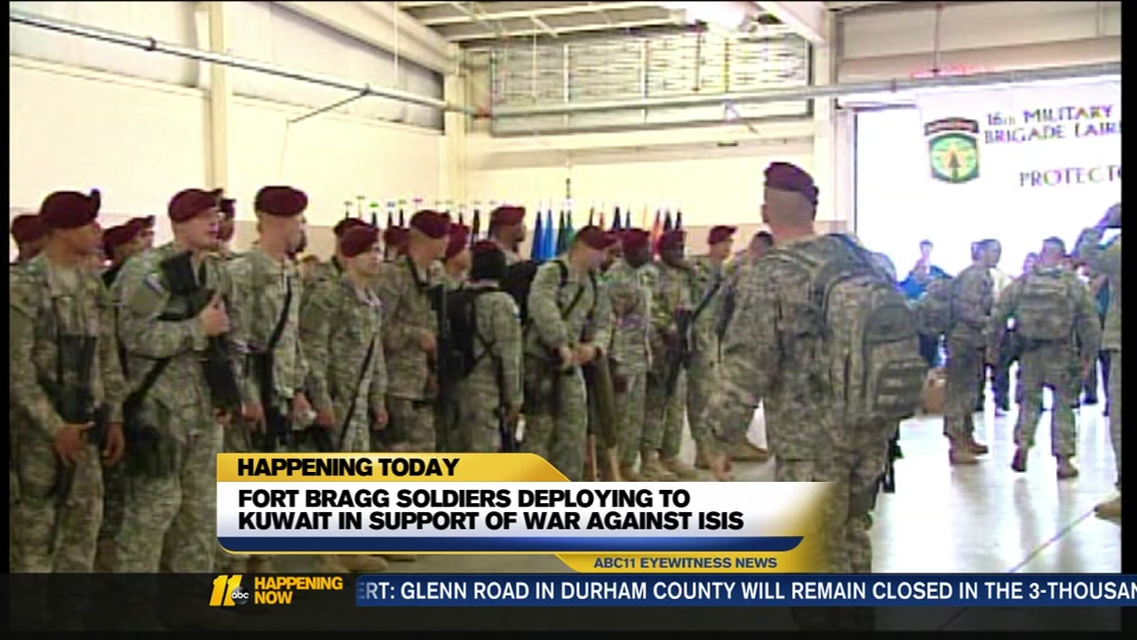 Loved ones to bid farewell as Fort Bragg soldiers deploy