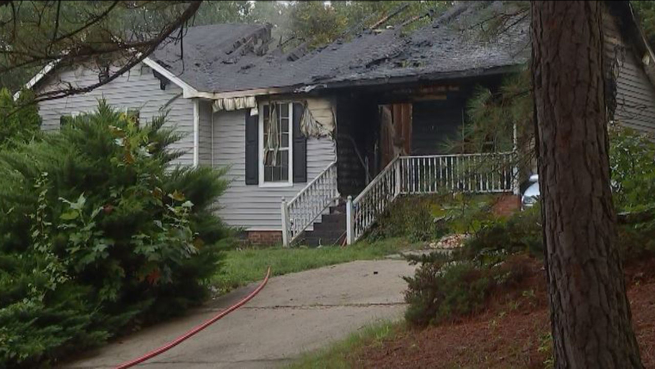 House fire on Loom Lane in Raleigh
