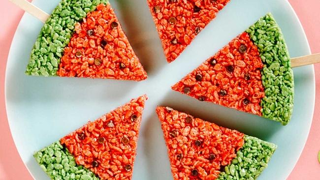 Watermelon rice krispie treats   abc7.com