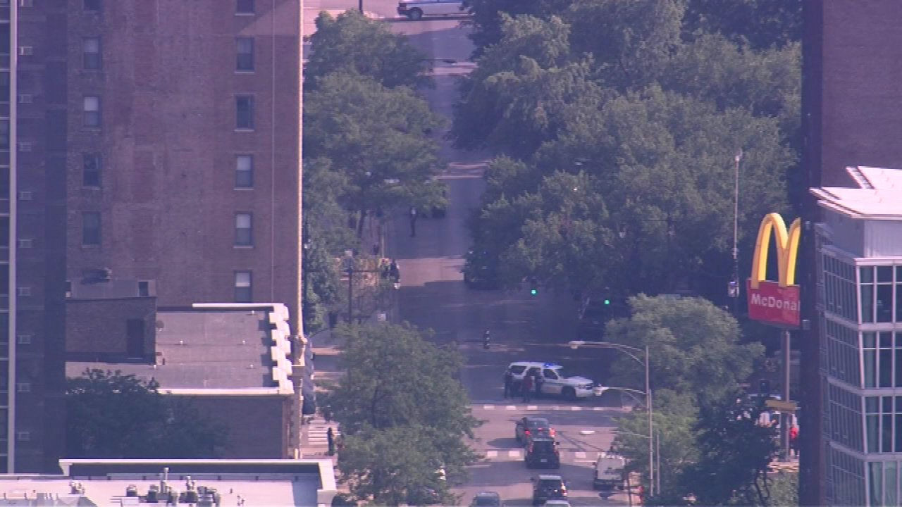 Police said a man and women were walking in the 4500-block of N. Sheridan around 3:30 p.m. Wednesday when someone in a vehicle opened fire.
