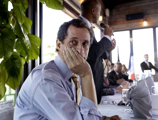 <div class='meta'><div class='origin-logo' data-origin='AP'></div><span class='caption-text' data-credit='AP Photo/Richard Drew'>New York mayoral candidate Anthony Weiner admitted to having illicit online exchanges with women even after he resigned from Congress amid a sexting scandal.</span></div>