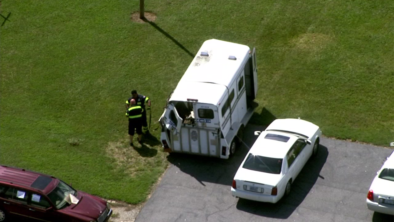 Chopper 11HD was overhead the trailer after the near-collision
