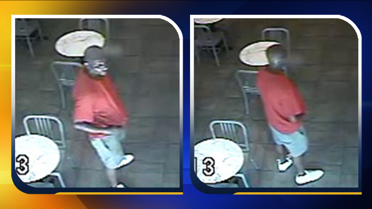 Surveillance photos of the robbery suspect at the Cupcake Shoppe Bakery