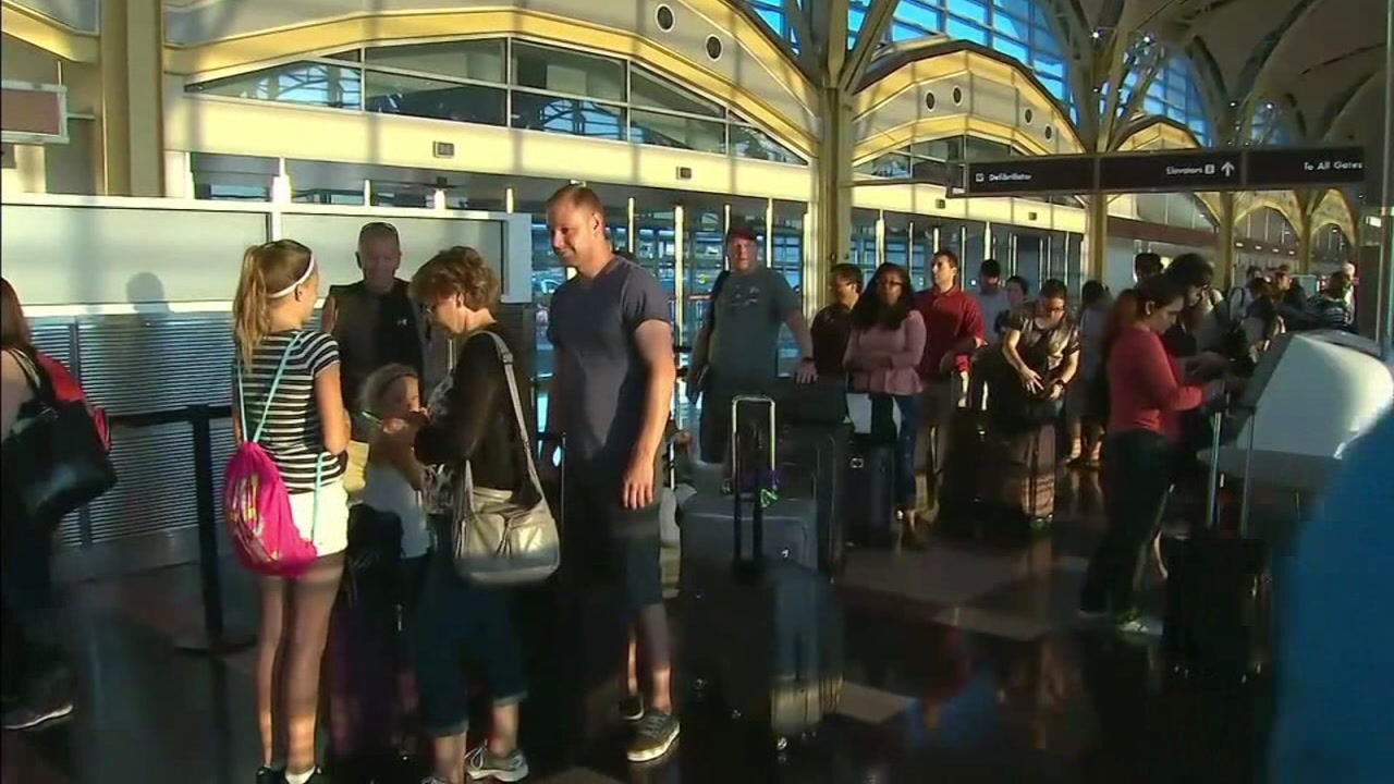 Delta delays at airport on Monday, August 8 , 2016.