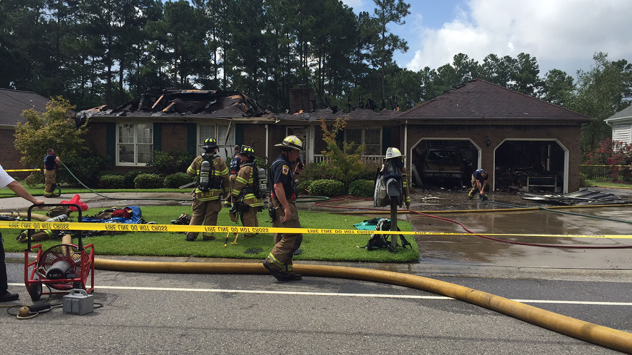 House fire on Shawcroft Road in Fayetteville Monday morning