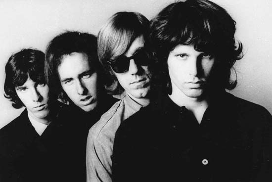 <div class='meta'><div class='origin-logo' data-origin='AP'></div><span class='caption-text' data-credit='AP'>Members of the Doors -- from left, John Densmore, Robbie Krieger, Ray Manzarek and Jim Morrison. Morrison was found dead in a Paris apartment bathtub on July 3, 1971.</span></div>