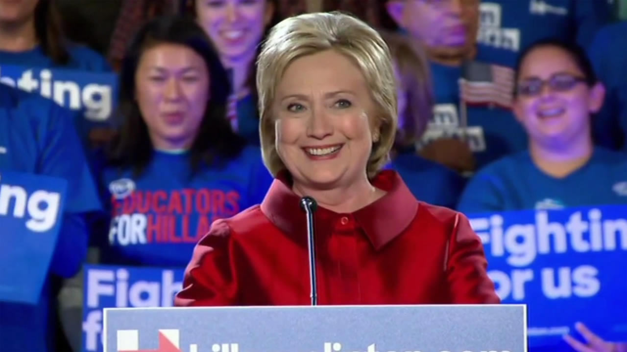 Hillary Clinton at campaign event