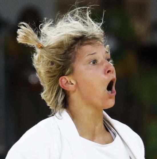 "<div class=""meta image-caption""><div class=""origin-logo origin-image ap""><span>AP</span></div><span class=""caption-text"">Portugal's Telma Monteiro celebrates after winning a bronze medal (AP Photo/Markus Schreiber)</span></div>"