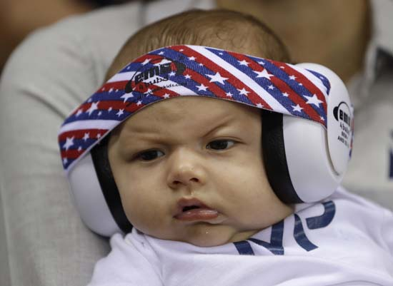 "<div class=""meta image-caption""><div class=""origin-logo origin-image ap""><span>AP</span></div><span class=""caption-text"">United States' Michael Phelps' son Boomer wears ear protection during the swimming competitions (AP Photo/Michael Sohn)</span></div>"