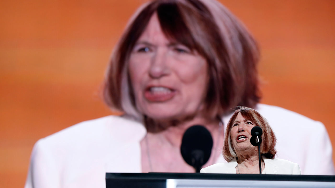Pat Smith, mother of Benghazi victim Sean Smith speaks during the opening day of the Republican National Convention in Cleveland, Monday, July 18, 2016.