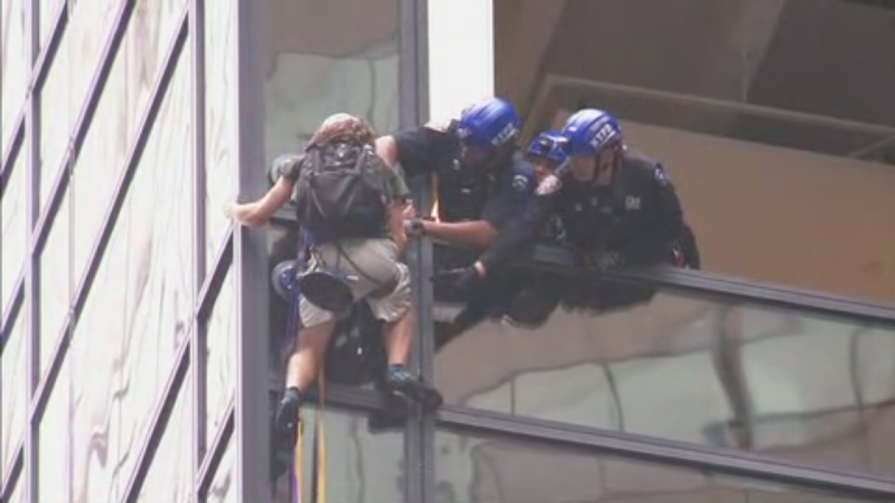 NYPD captures Trump Tower climber