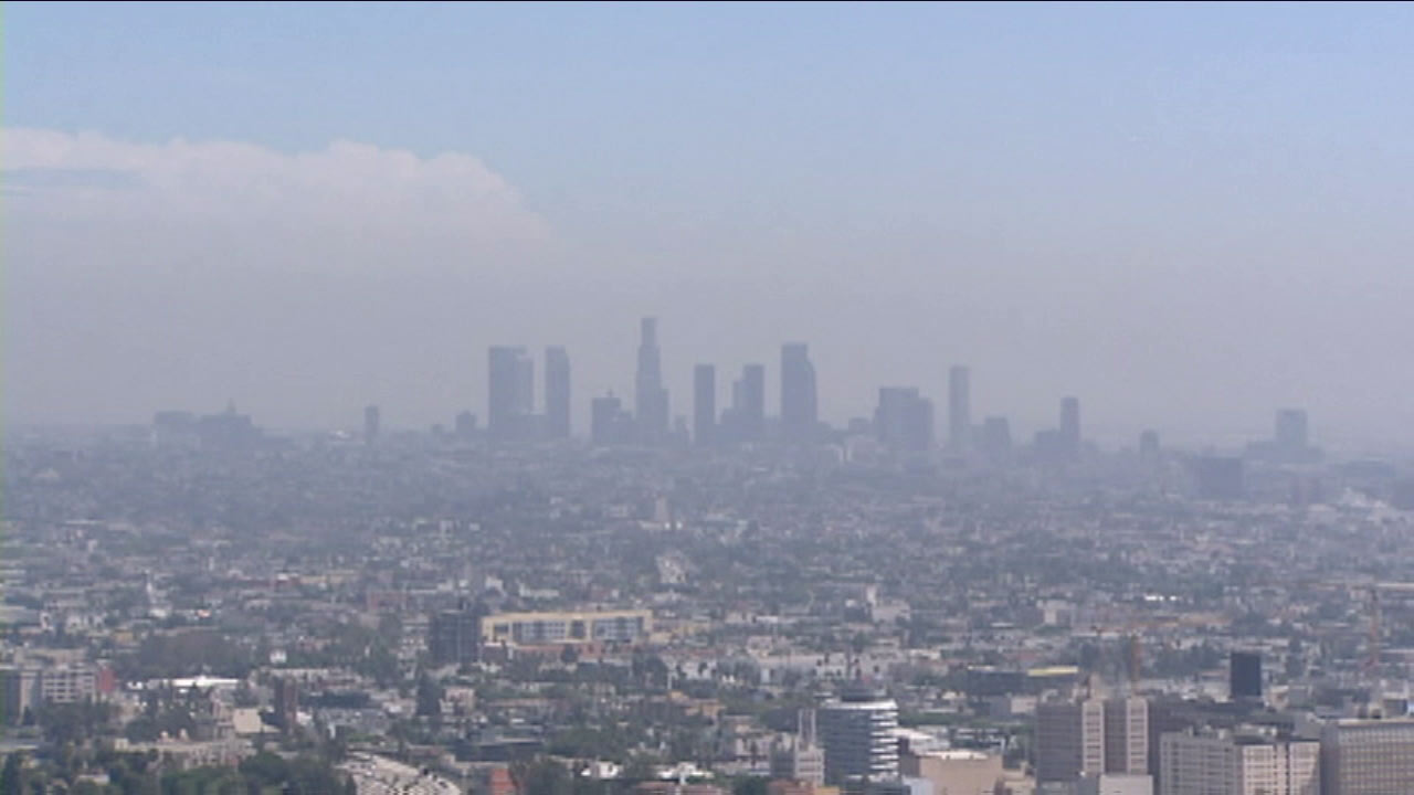 The skyline of Los Angeles is seen in this undated file photo.