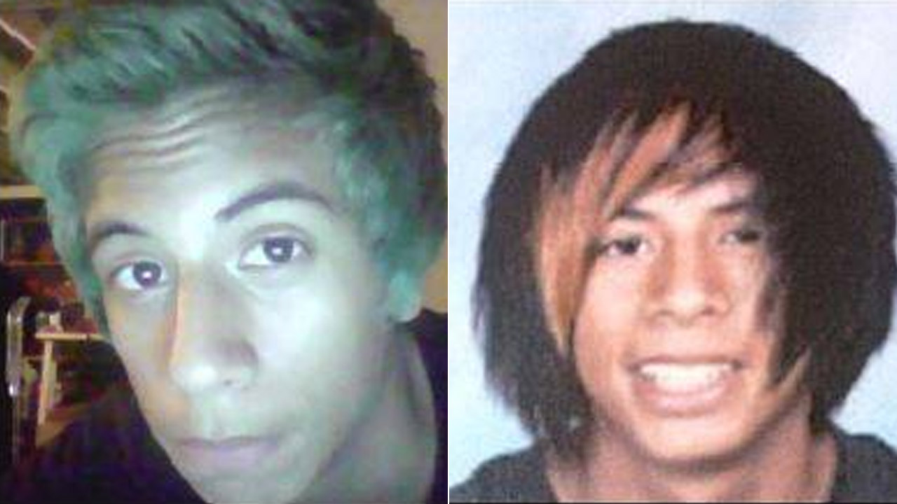Detectives released these two photos of 17-year-old Rory Murga, calling him a 'person of interest' in the stabbing death of a Pico Rivera girl.