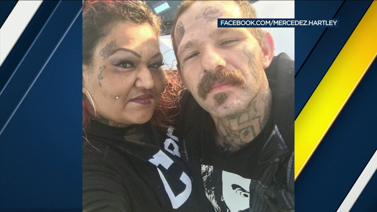 Johnny Lewis Hartley, 39, and Mercy Mary Becerra, 43, both of Whittier, are seen in this Facebook photo.
