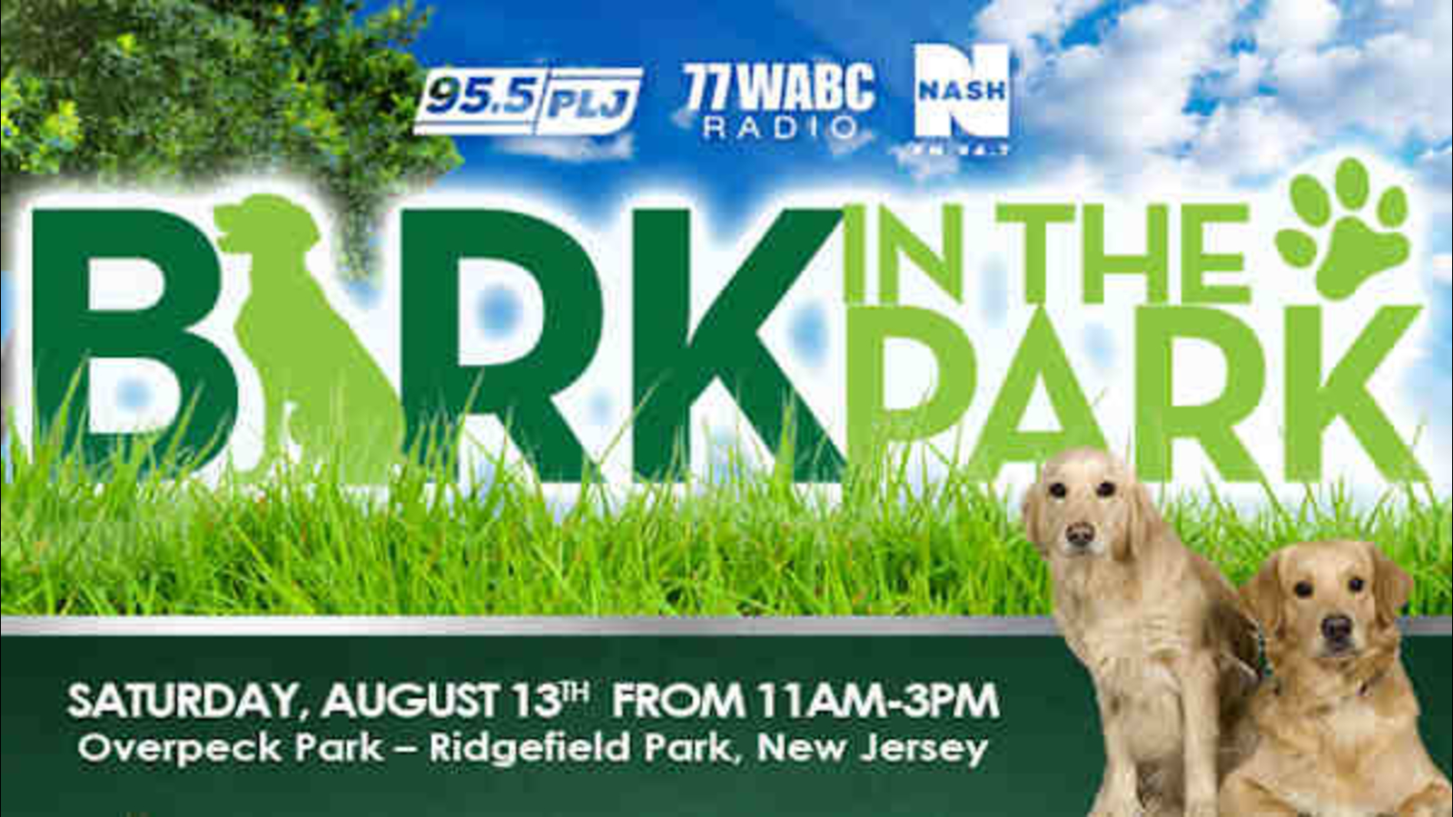 Bark in the Park today in New Jersey