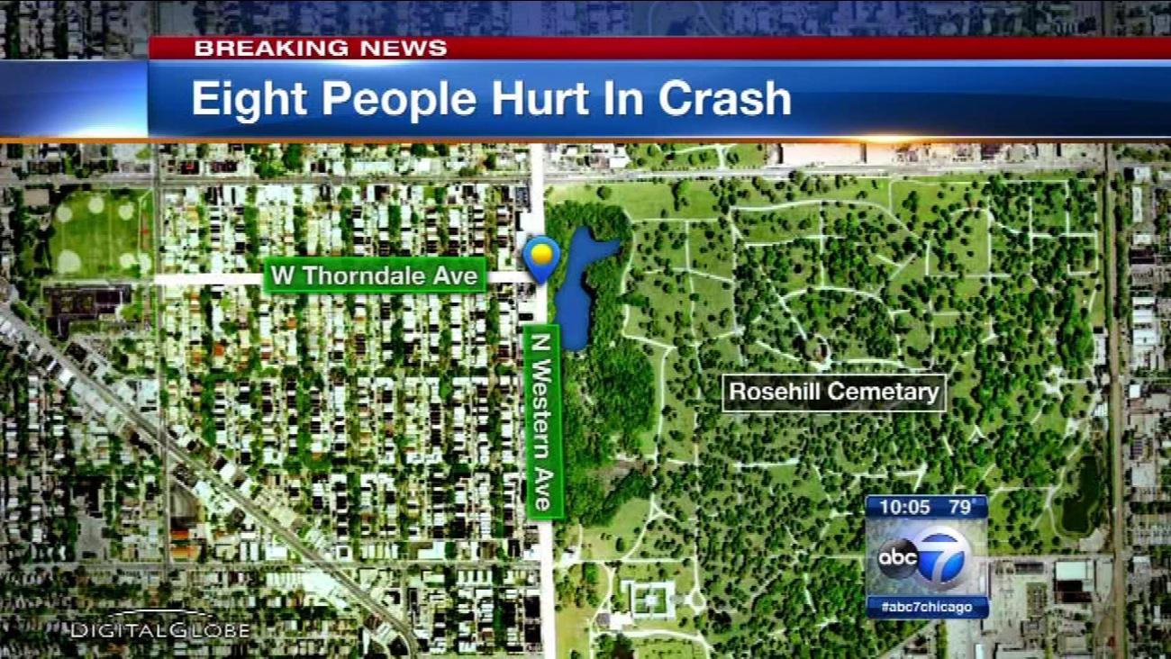 8 injured in West Ridge crash