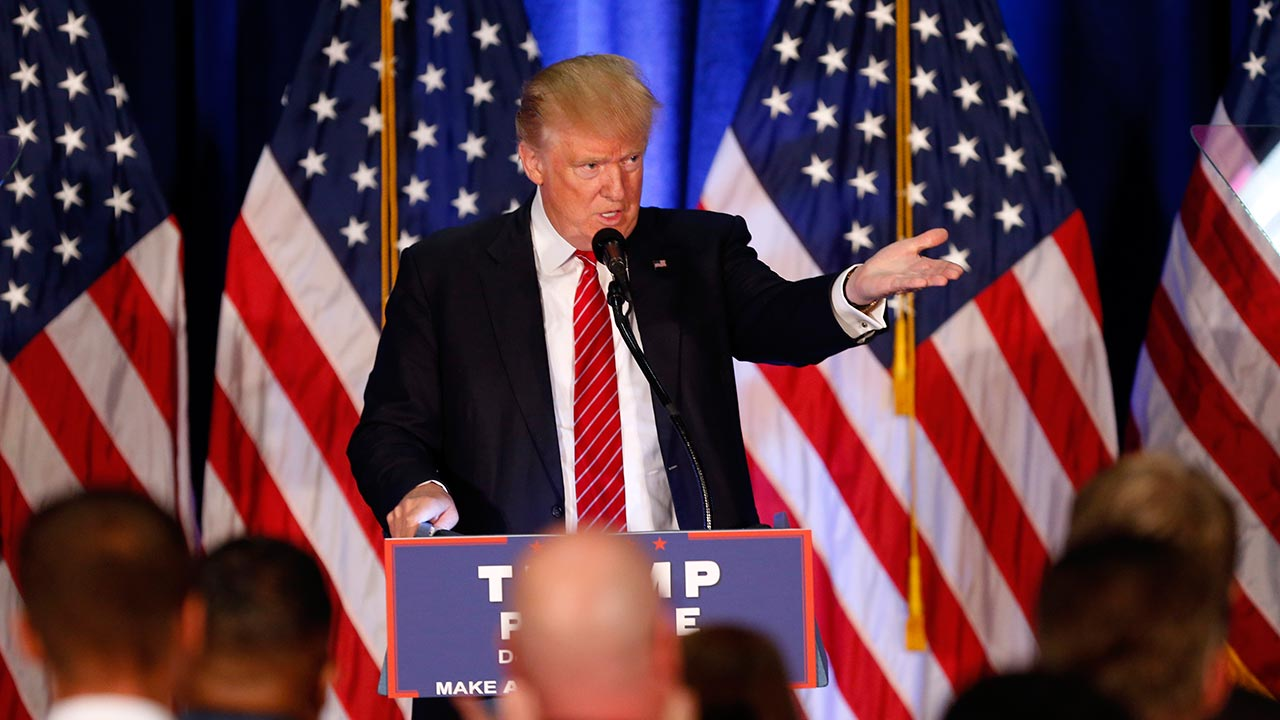 Republican Presidential candidate Donald Trump speaks in Youngstown, Ohio, Monday, Aug. 15, 2016.