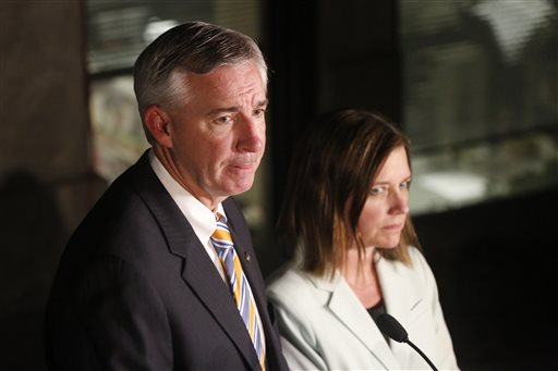 "<div class=""meta image-caption""><div class=""origin-logo origin-image ap""><span>AP</span></div><span class=""caption-text"">Montgomery County District District Attorney Kevin Steele and assistant district attorney Michelle Henry speak after the guilty verdict for Kathleen Kane (AP)</span></div>"