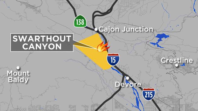 Cajon Pass Fire Map.Blue Cut Fire Burns 18k Acres 82k Evacuated In San Bernardino