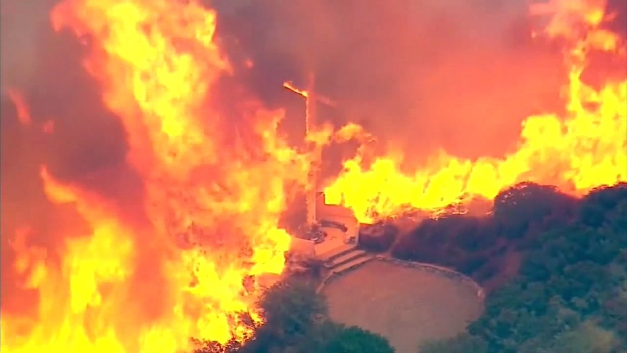 Massive fire burns In San Bernardino County, California, Tuesday, August 16, 2016.