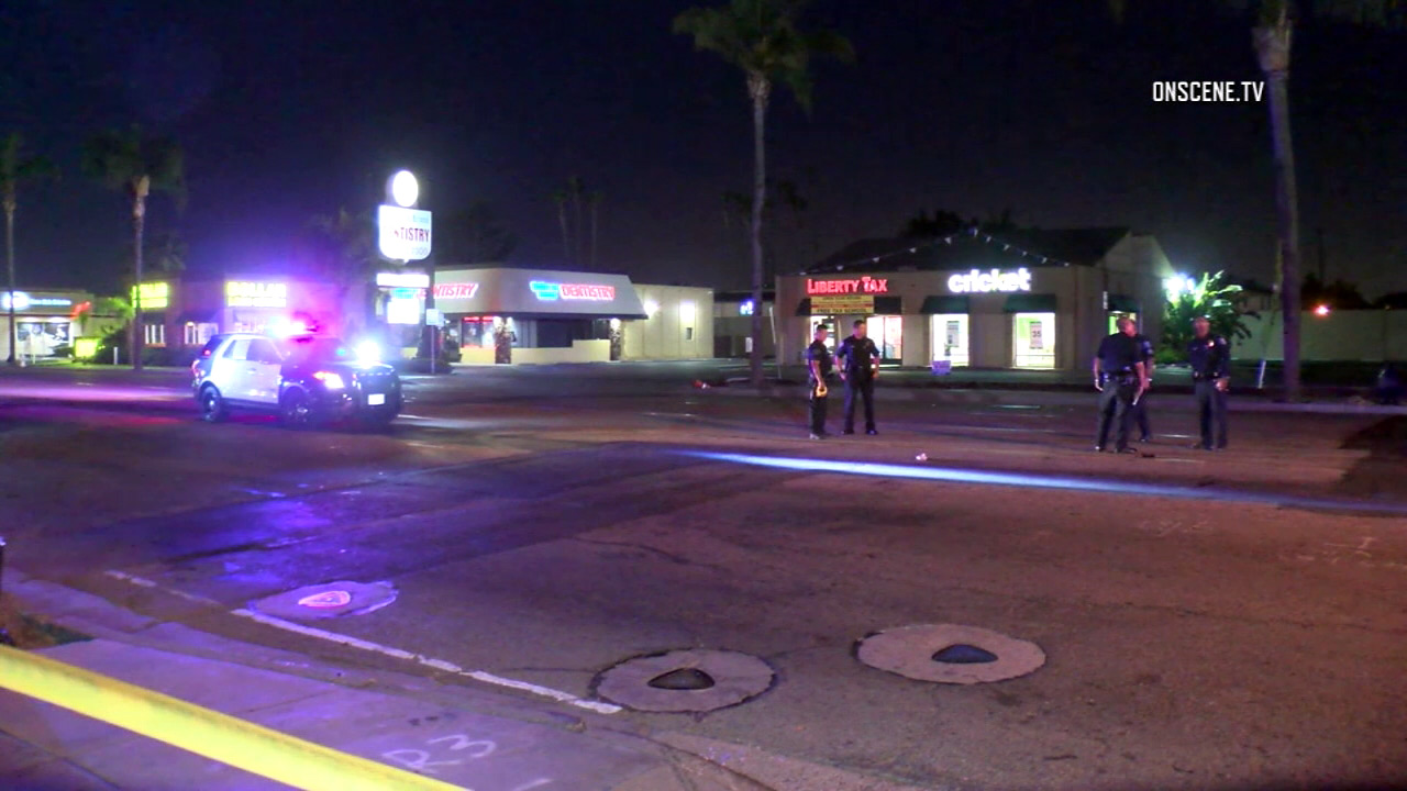 A female pedestrian was struck and killed by a hit-and-run driver in Santa Ana on Wednesday, Aug. 17, 2016.