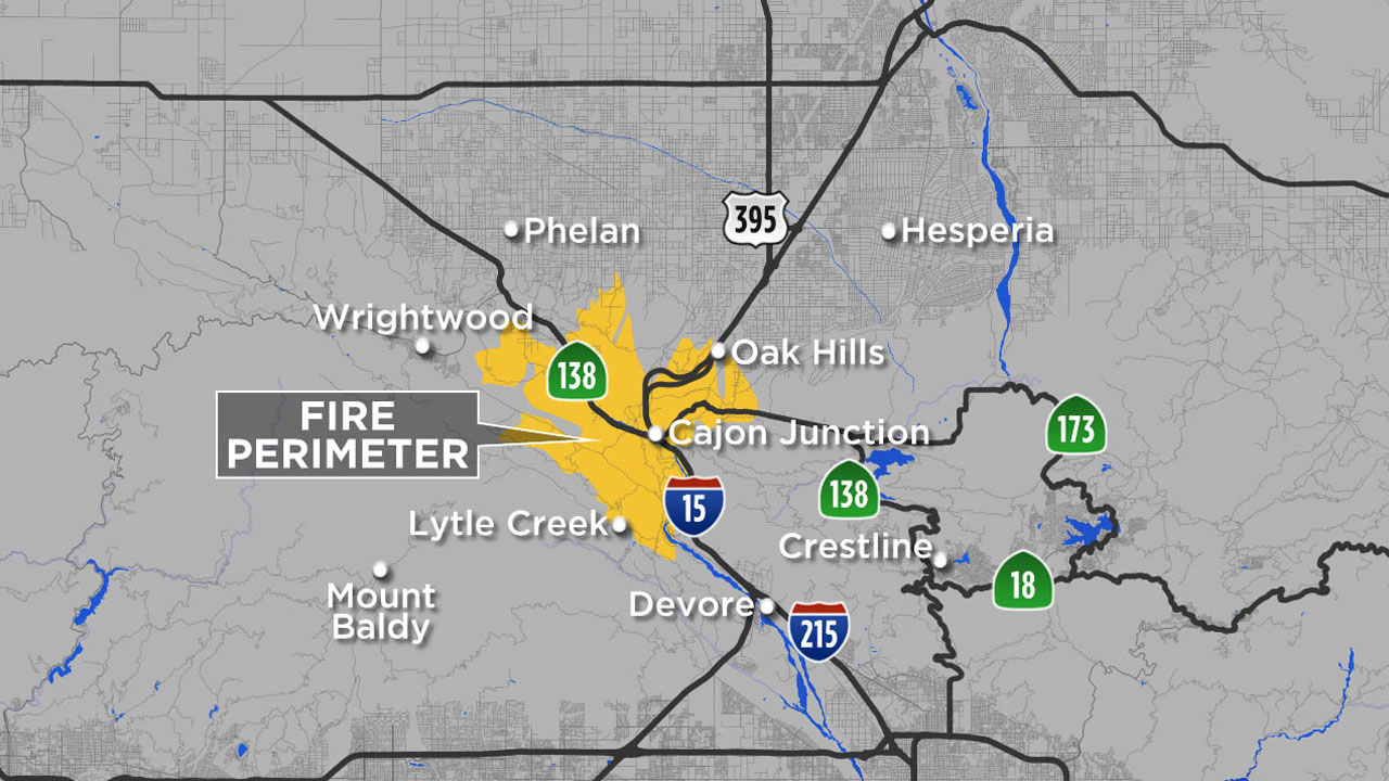 Cajon Pass Fire Map.Blue Cut Fire 68 Percent Contained 105 Homes Destroyed Official