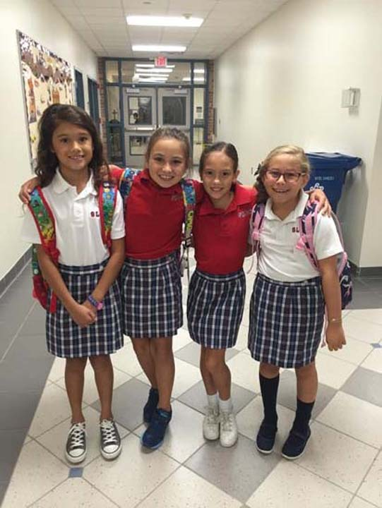 "<div class=""meta image-caption""><div class=""origin-logo origin-image none""><span>none</span></div><span class=""caption-text"">Giselle, Gabi , Angie and Camila's first day of school at St. Laurence Catholic School in Sugar Land</span></div>"