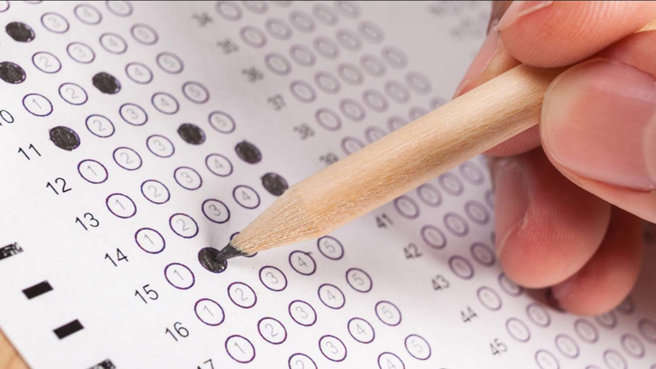A stock image of an exam page