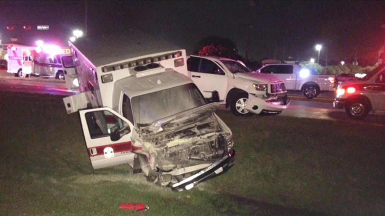 damaged ambulance