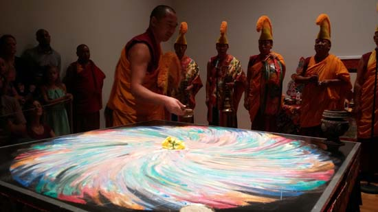 """<div class=""""meta image-caption""""><div class=""""origin-logo origin-image ktrk""""><span>KTRK</span></div><span class=""""caption-text"""">The completed sand mandala is ruined and swept up by the monks</span></div>"""