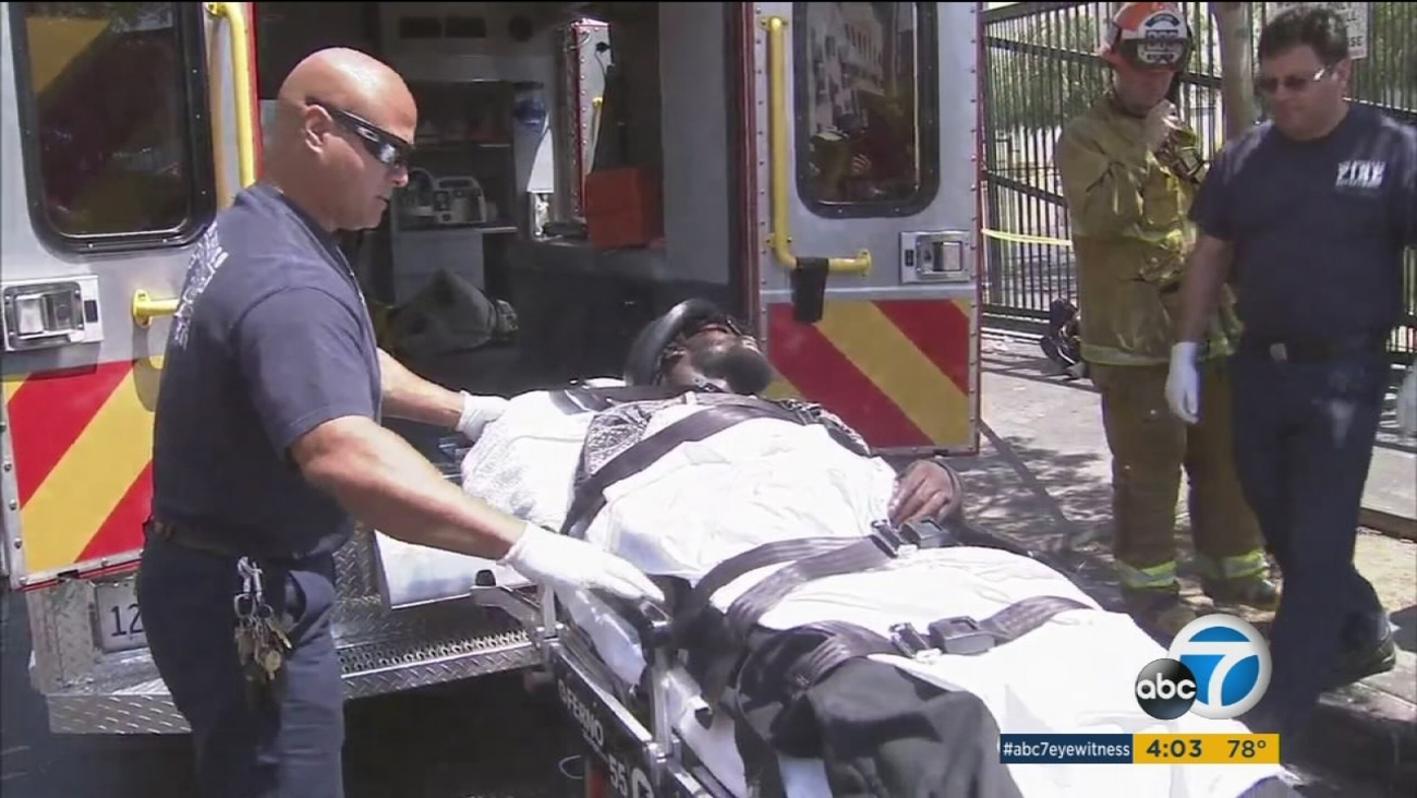 Several people on Skid Row were rushed to the hospital on Aug. 22, 2016, after being sickened by a drug, presumably synthetic marijuana, officials said.