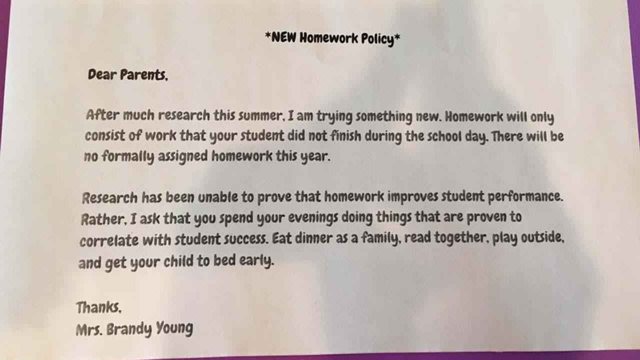 students should have no homework