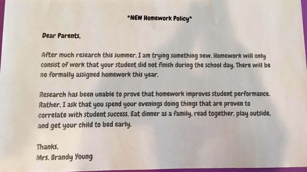 Texas Teacher Creates No Homework Policy — and Parents Are Absolutely Loving It