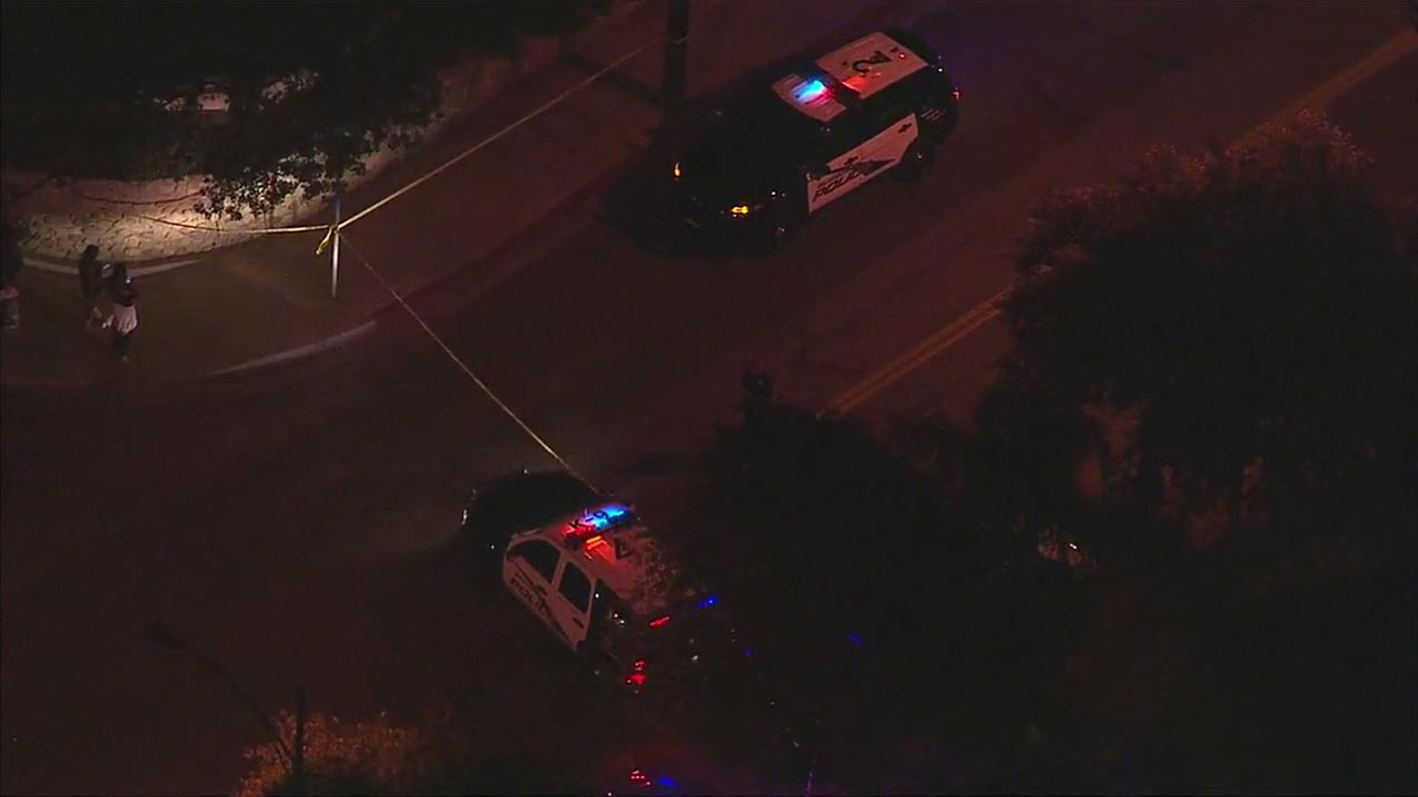 Police responded to a shooting in Burbank that left one person wounded on Monday, Aug. 22, 2016.