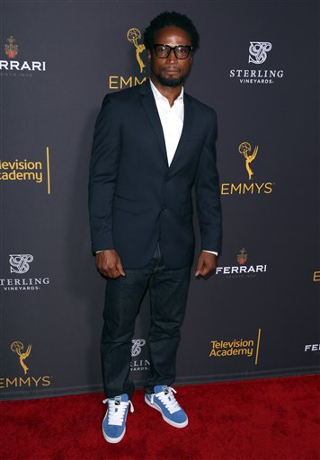 "<div class=""meta image-caption""><div class=""origin-logo origin-image ap""><span>AP</span></div><span class=""caption-text"">Elvis Nolasco arrives at the Television Academy's Performers Emmy Celebration at the Montage Beverly Hills on Monday, Aug. 22, 2016. (Matt Sayles/Invision/AP)</span></div>"
