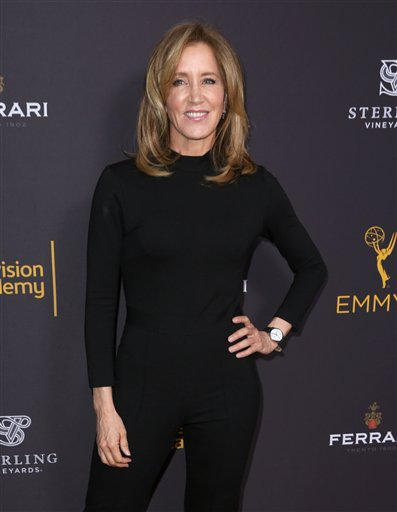 "<div class=""meta image-caption""><div class=""origin-logo origin-image ap""><span>AP</span></div><span class=""caption-text"">Felicity Huffman arrives at the Television Academy's Performers Emmy Celebration at the Montage Beverly Hills on Monday, Aug. 22, 2016. (Matt Sayles/Invision/AP)</span></div>"